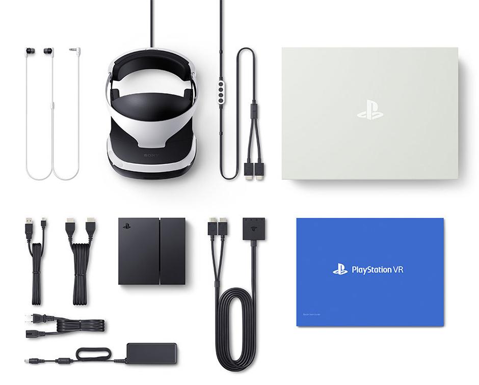 Este es el kit básico de PlayStation VR